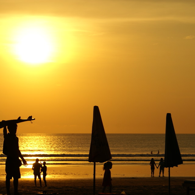 """Sunset in Bali"" stock image"