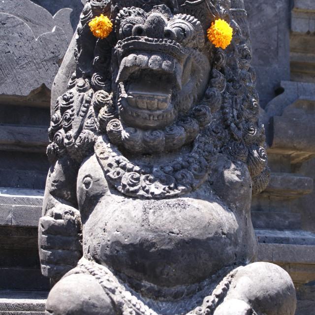 """""""Gargoyle in Bali"""" stock image"""