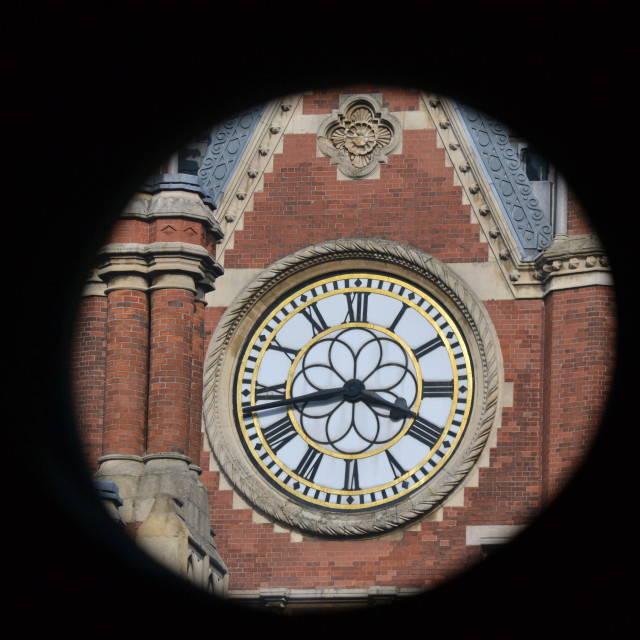 """""""St Pancras clock"""" stock image"""