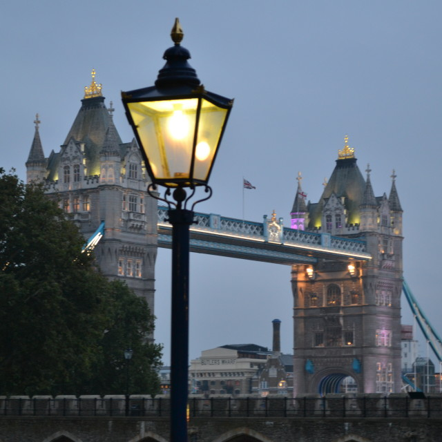 """""""Tower bridge from the Tower of London"""" stock image"""