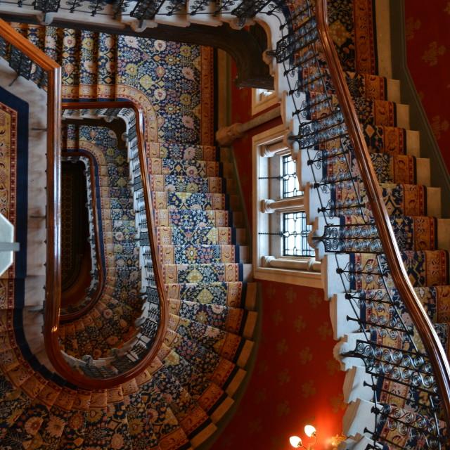 """Grand staircase St Pancras"" stock image"