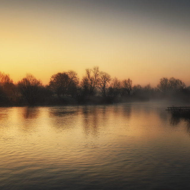 """River Mist"" stock image"