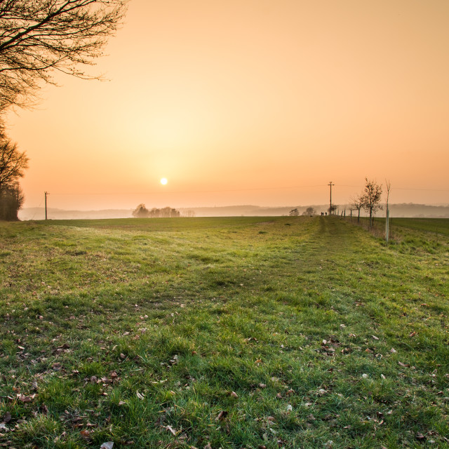 """""""Spring sunset in Hampshire"""" stock image"""