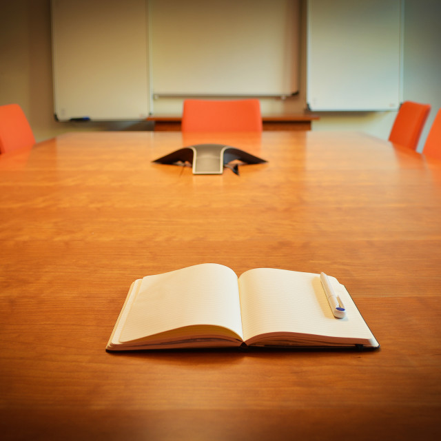 """Board Room Empty"" stock image"