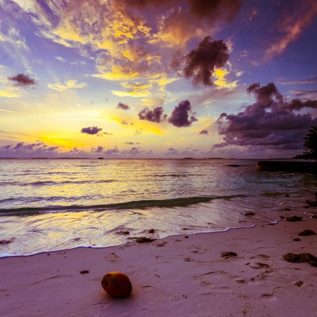 """Maldivian Sunrise"" stock image"