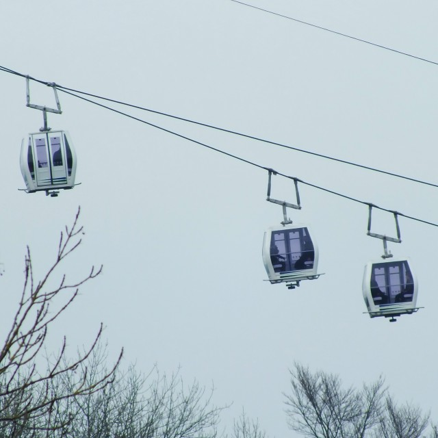 """Cable Cars!"" stock image"