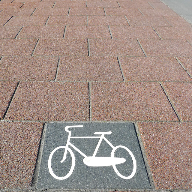 """Bicycle path no.1"" stock image"