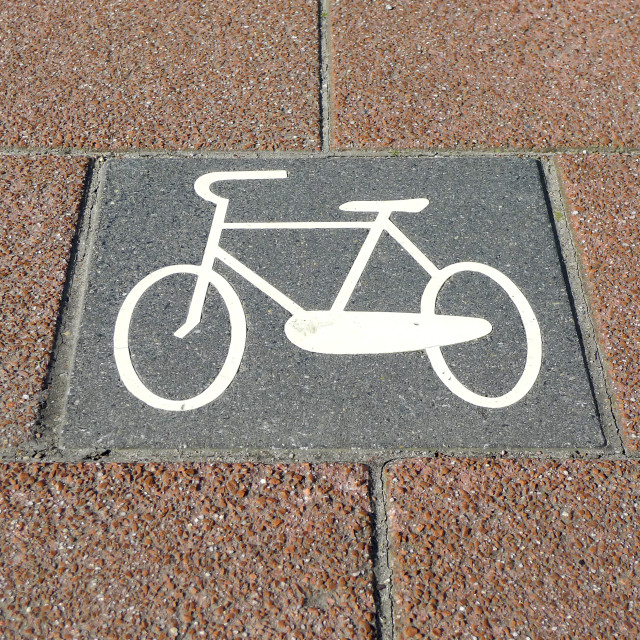 """Bicycle path no.2"" stock image"