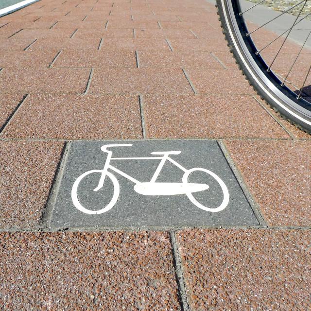 """Bicycle path no.4"" stock image"