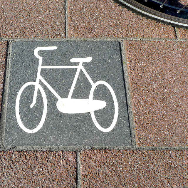 """Bicycle path no.6"" stock image"