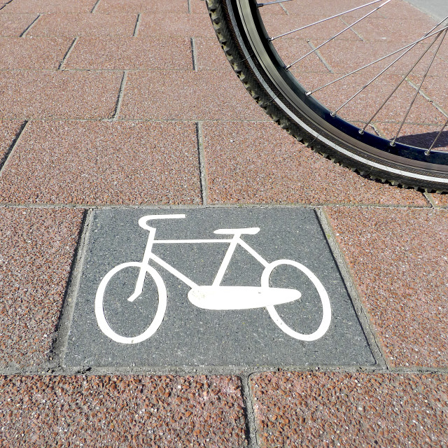 """Bicycle path no.7"" stock image"