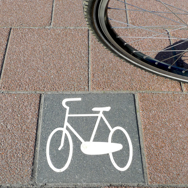 """Bicycle path no.5"" stock image"