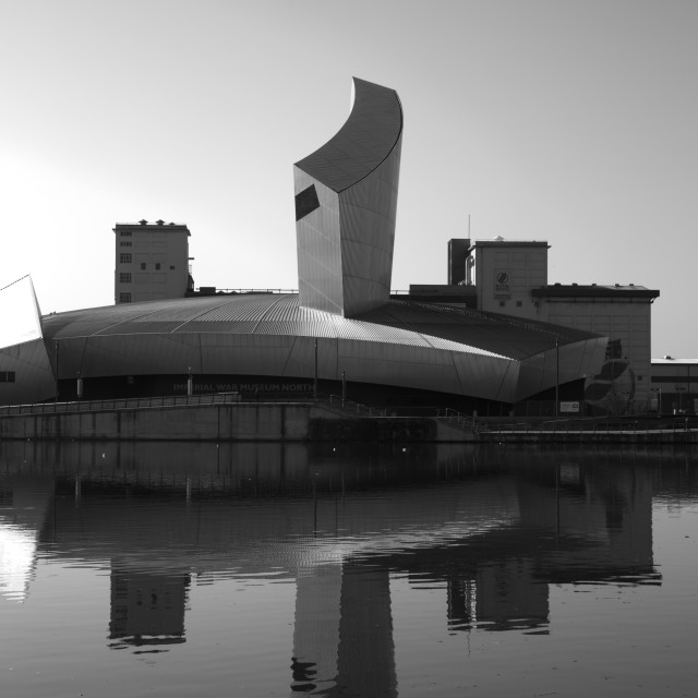 """Imperial War Museum by the Water"" stock image"