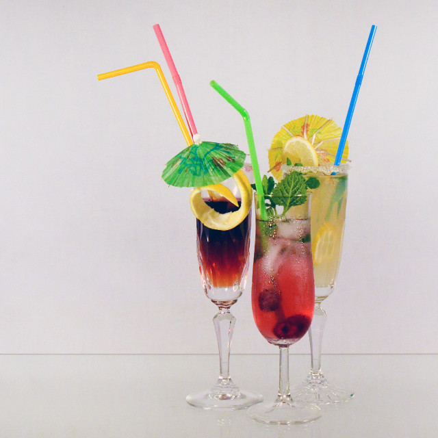 """""""Drinking cocktails"""" stock image"""
