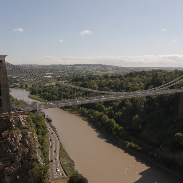 """Clifton Suspension Bridge, Bristol (Alt view)"" stock image"