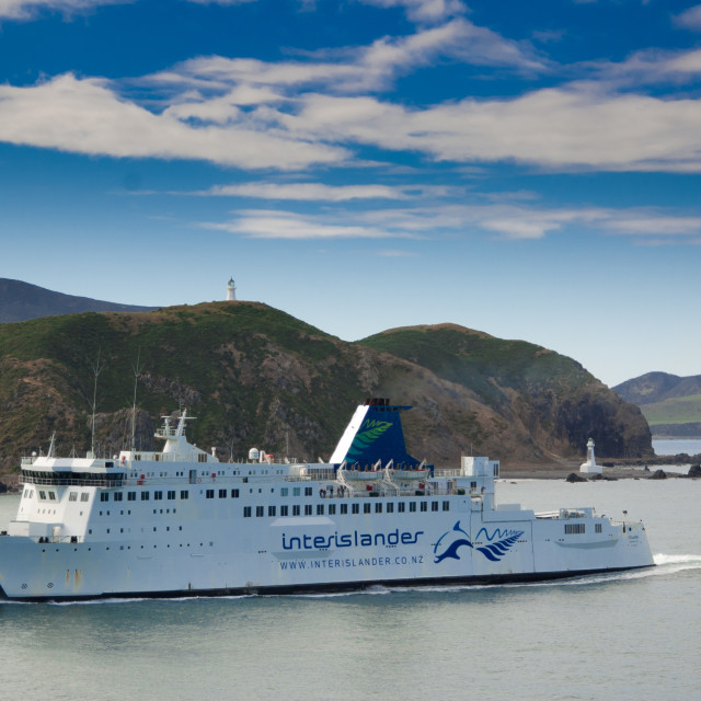 """""""Cook Strait ferry, New Zealand"""" stock image"""