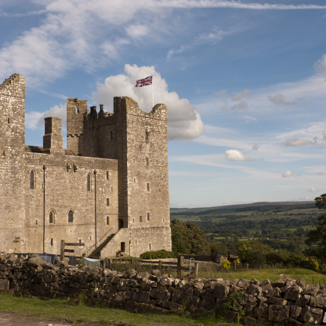 """North Yorkshire's Bolton Castle on a sunny day."" stock image"