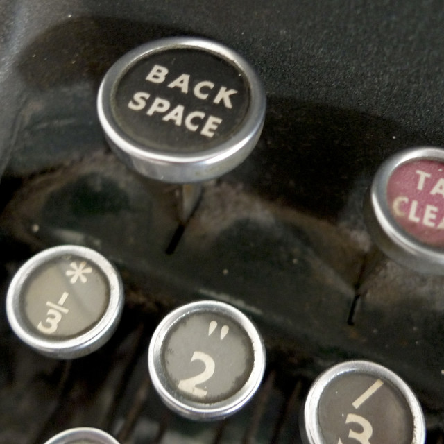"""Old Typewriter keys"" stock image"