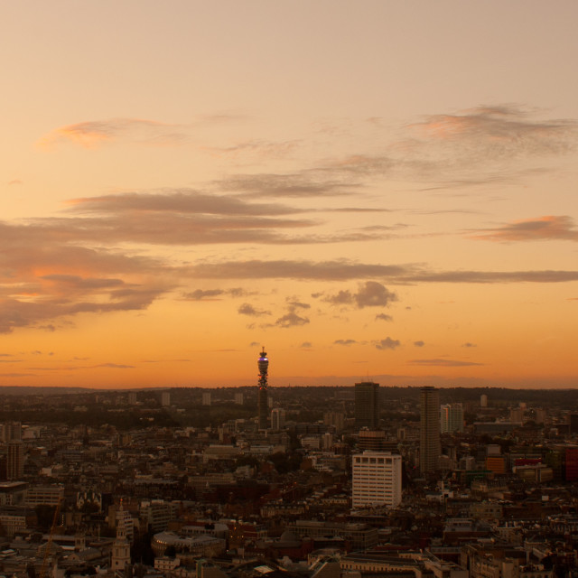 """London Sunset"" stock image"