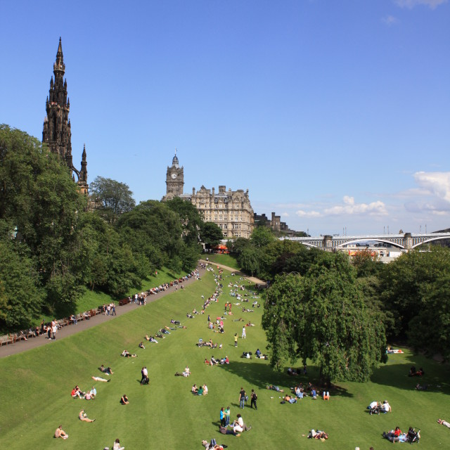 """Princes Street Garden, Edinburgh"" stock image"