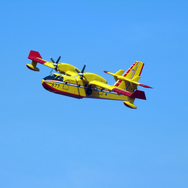 """Canadair in action"" stock image"