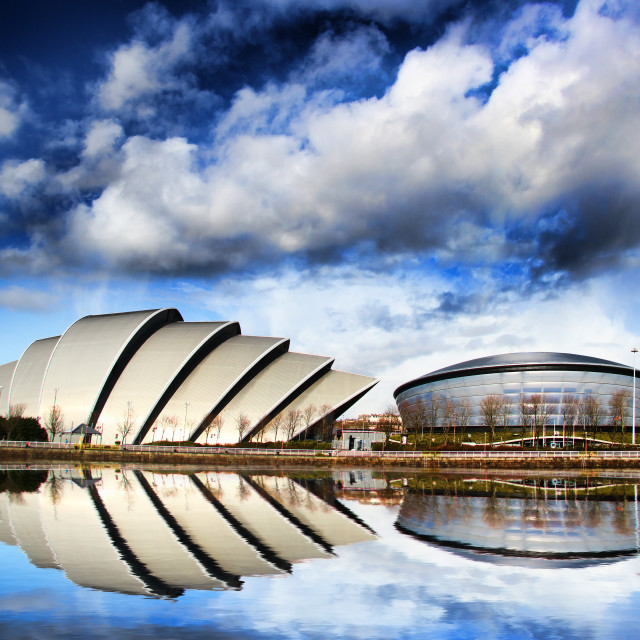 """Glasgow Skyline"" stock image"
