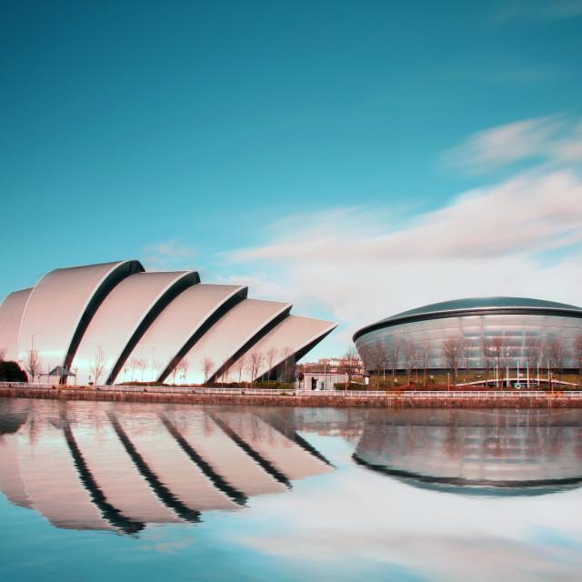"""""""Glasgow City Skyline"""" stock image"""