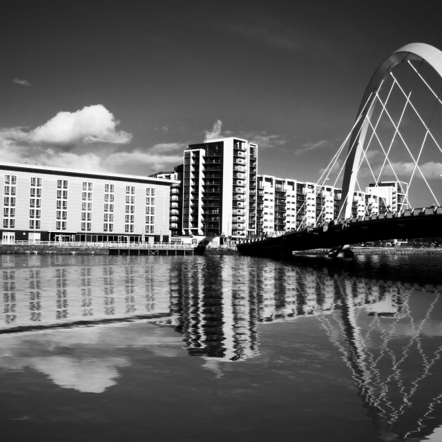 """Glasgow Bridge"" stock image"
