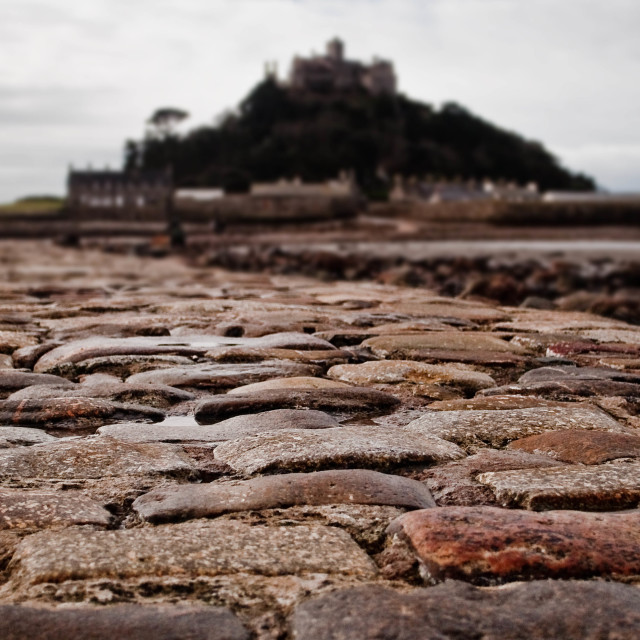 """Cobbled causeway"" stock image"