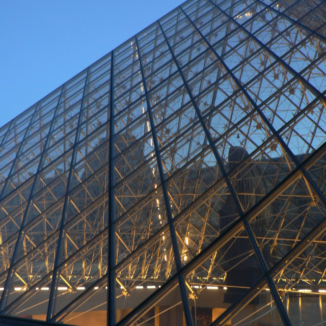 """Louvre at dusk"" stock image"