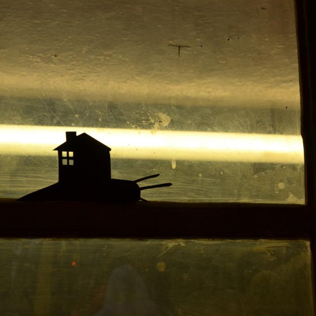"""Bus shelter snail"" stock image"