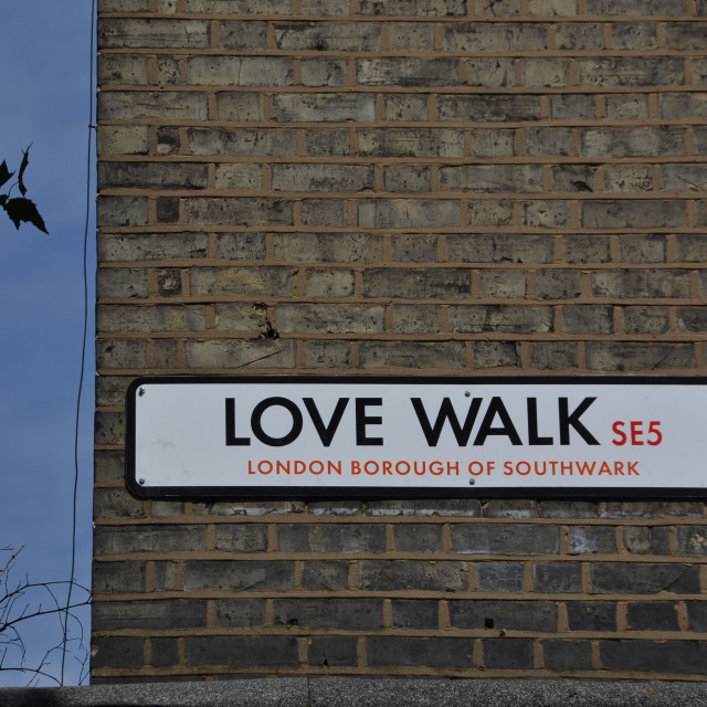 """Love walk"" stock image"