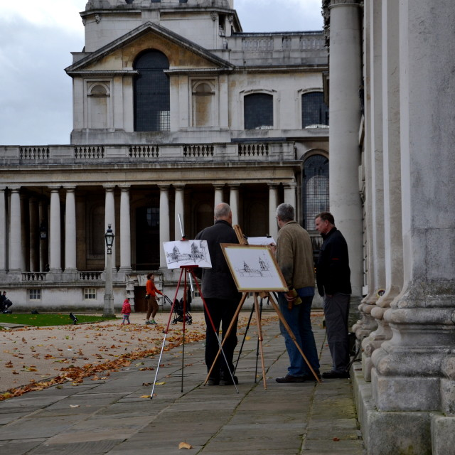 """Greenwich artists"" stock image"