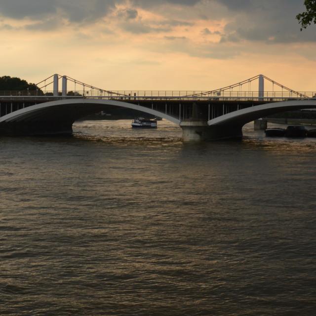 """""""Chelsea Bridge"""" stock image"""