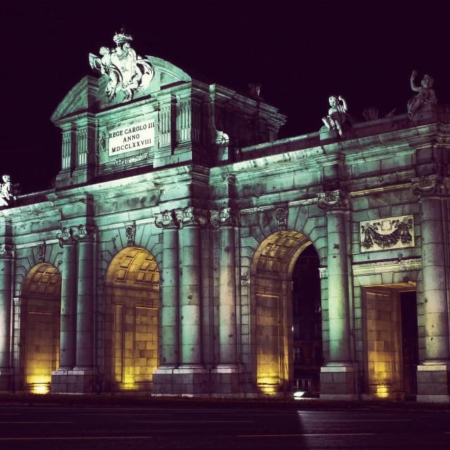 """""""Puerta de Alcalá"""" stock image"""