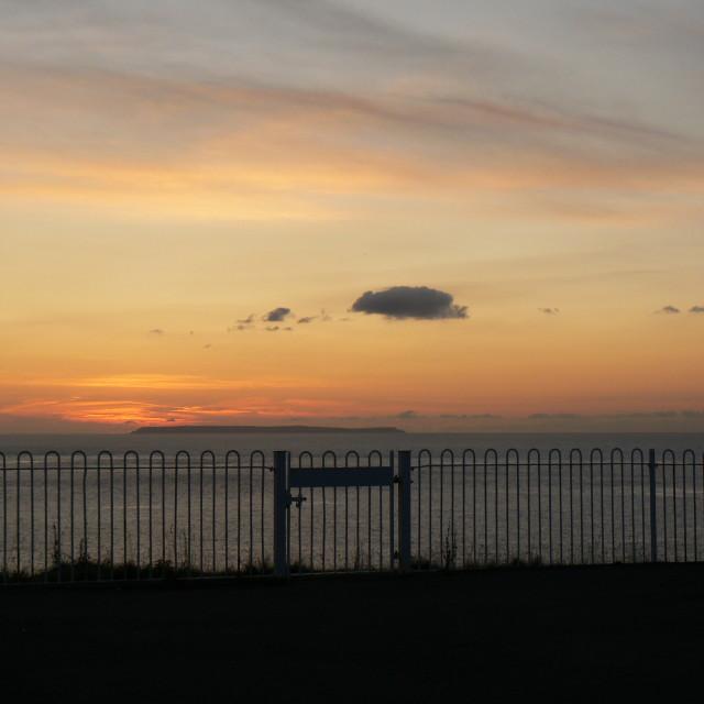 """lundy on the horizon"" stock image"