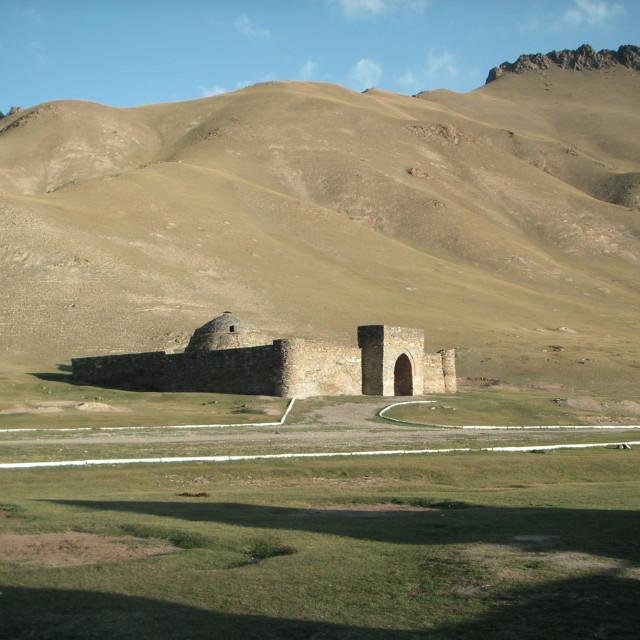 """Caravanserai in Kyrgyzstan"" stock image"