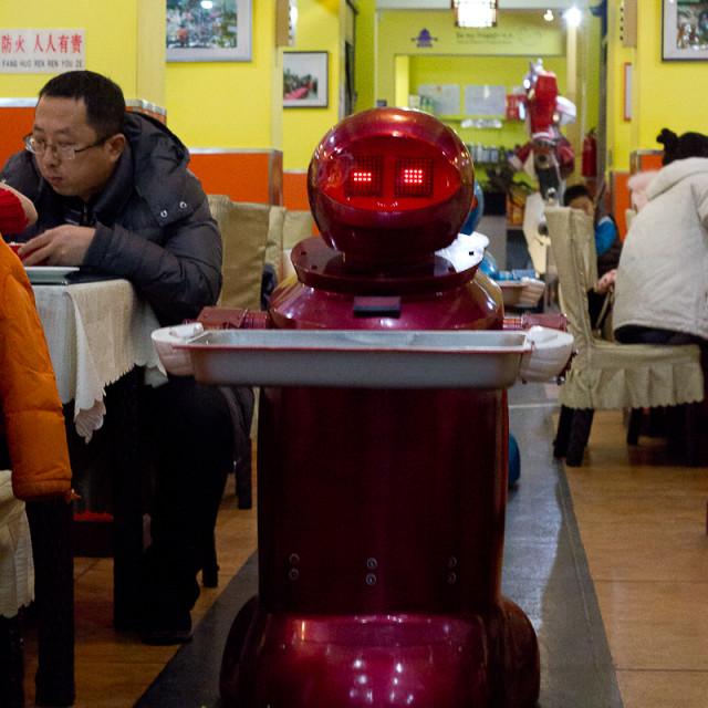 """Robot Restaurant"" stock image"