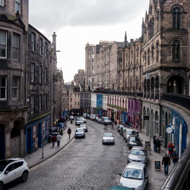 """Victoria Street, Edinburgh"" stock image"