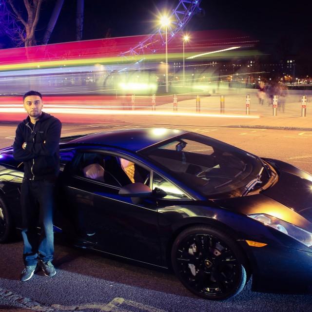 """Lamborghini in London"" stock image"
