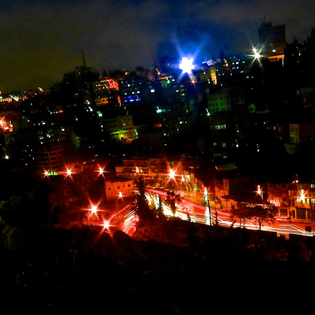 """""""Lights over Downtown, Amman"""" stock image"""