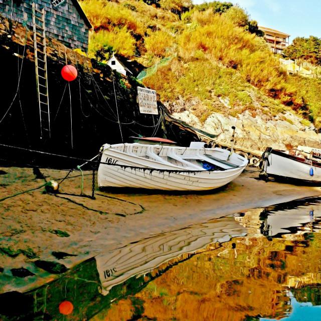 """""""Seaside Reflections"""" stock image"""