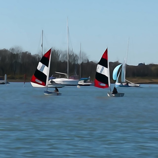 """Yachts at Warsash"" stock image"