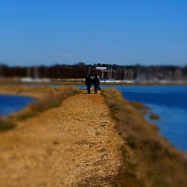 """""""Couple out for a stroll"""" stock image"""