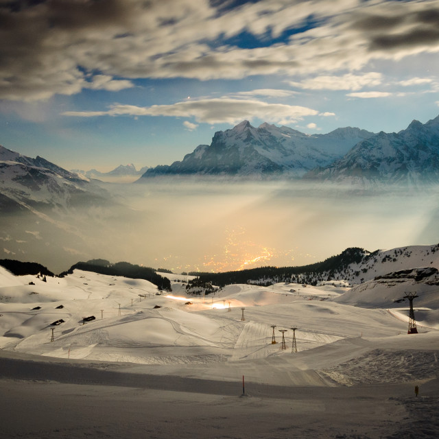 """Grindelwald, Switzerland"" stock image"
