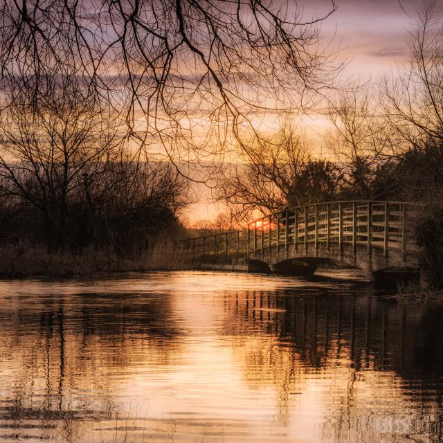 """Constable's Bridge"" stock image"
