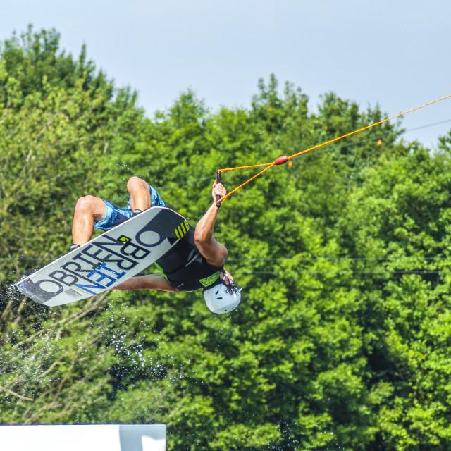 """Wakeboarding Flip"" stock image"