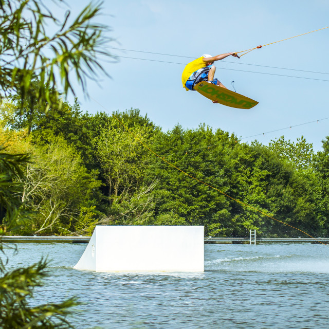 """Wakeboarding High"" stock image"