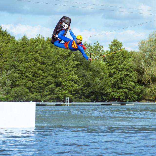 """Wakeboarding Superman"" stock image"