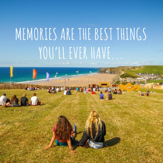 """Memories Text"" stock image"